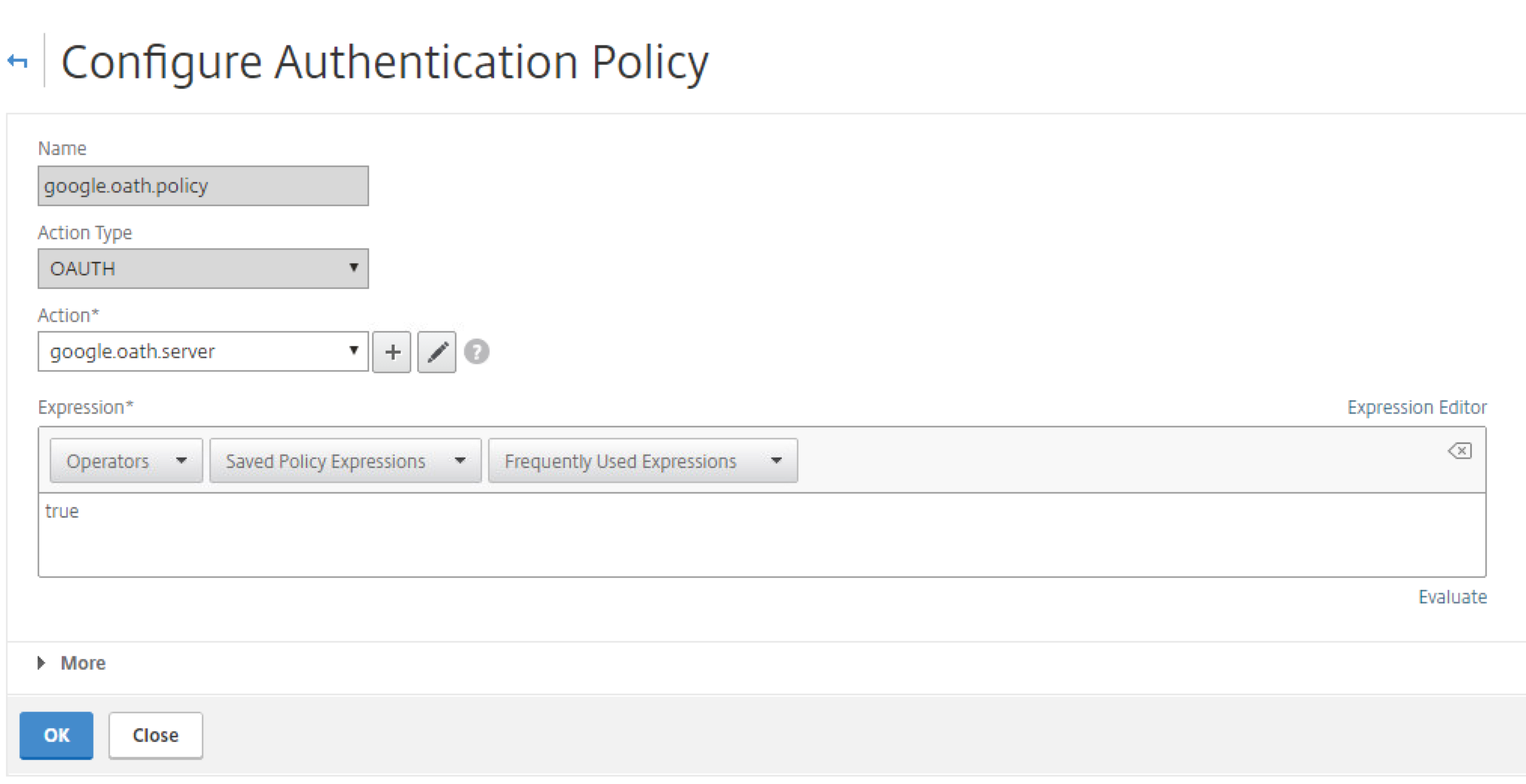 Cugc blogs citrix netscaler federated authentication and give your policy a name set the action type to oauth and select your new action from the drop down list for the expression type in true 1betcityfo Gallery
